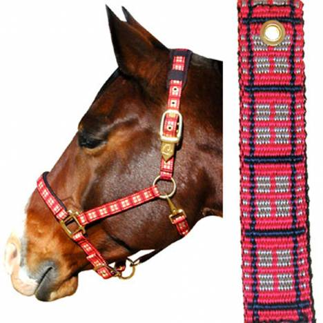 Plaid Nylon Padded Halter