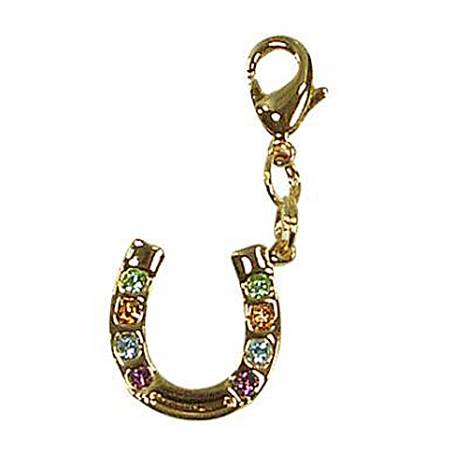 Exselle Horseshoe with Stones Zipper Pull