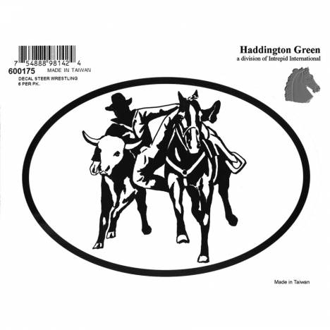 Decal - Steer Wrestler - Pack Of 6