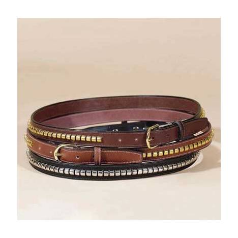 """TORY LEATHER 1"""" Stitched Belt with Clincher Strip"""