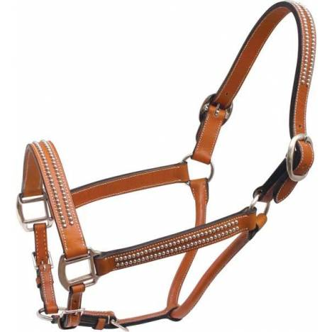 Cowboy Pro Leather Halter with Spots