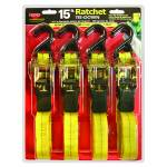 Ratchet Tie Down with  Handle - 4 Pack