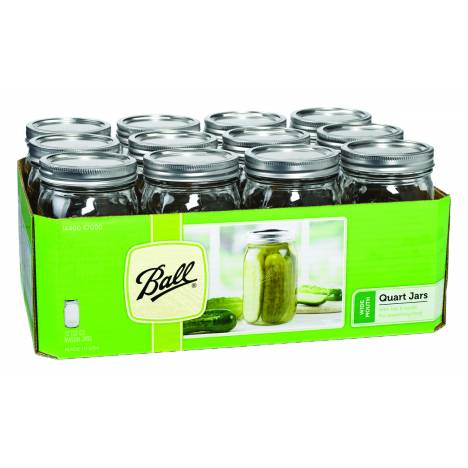 Ball Wide Mouth Mason Jar With Cap