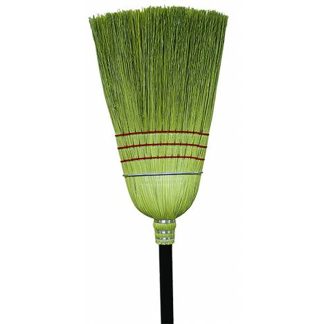 Workhorse Broom with Rattan Center