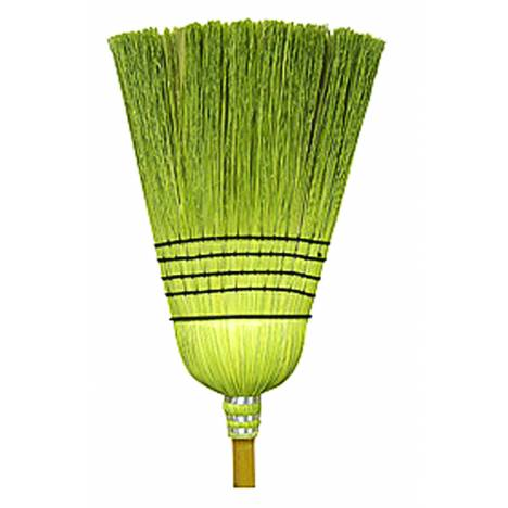 Treated Corn & Rattan Broom