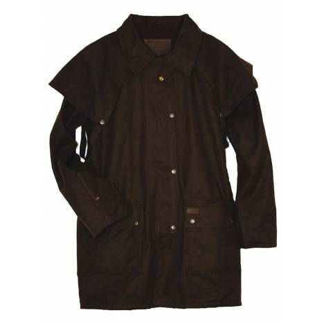 Outback Mens Bush Ranger Short Oilskin Jacket