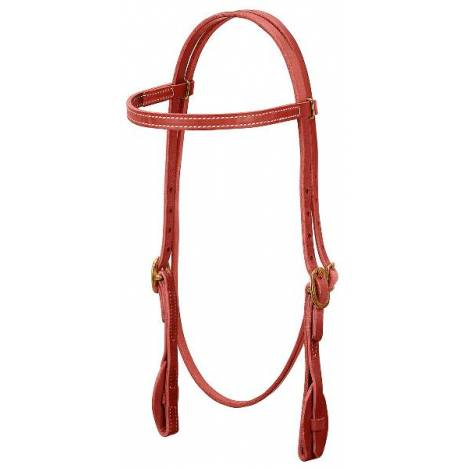 Weaver Quick Change Browband Headstall with Leather Tab Bit Ends