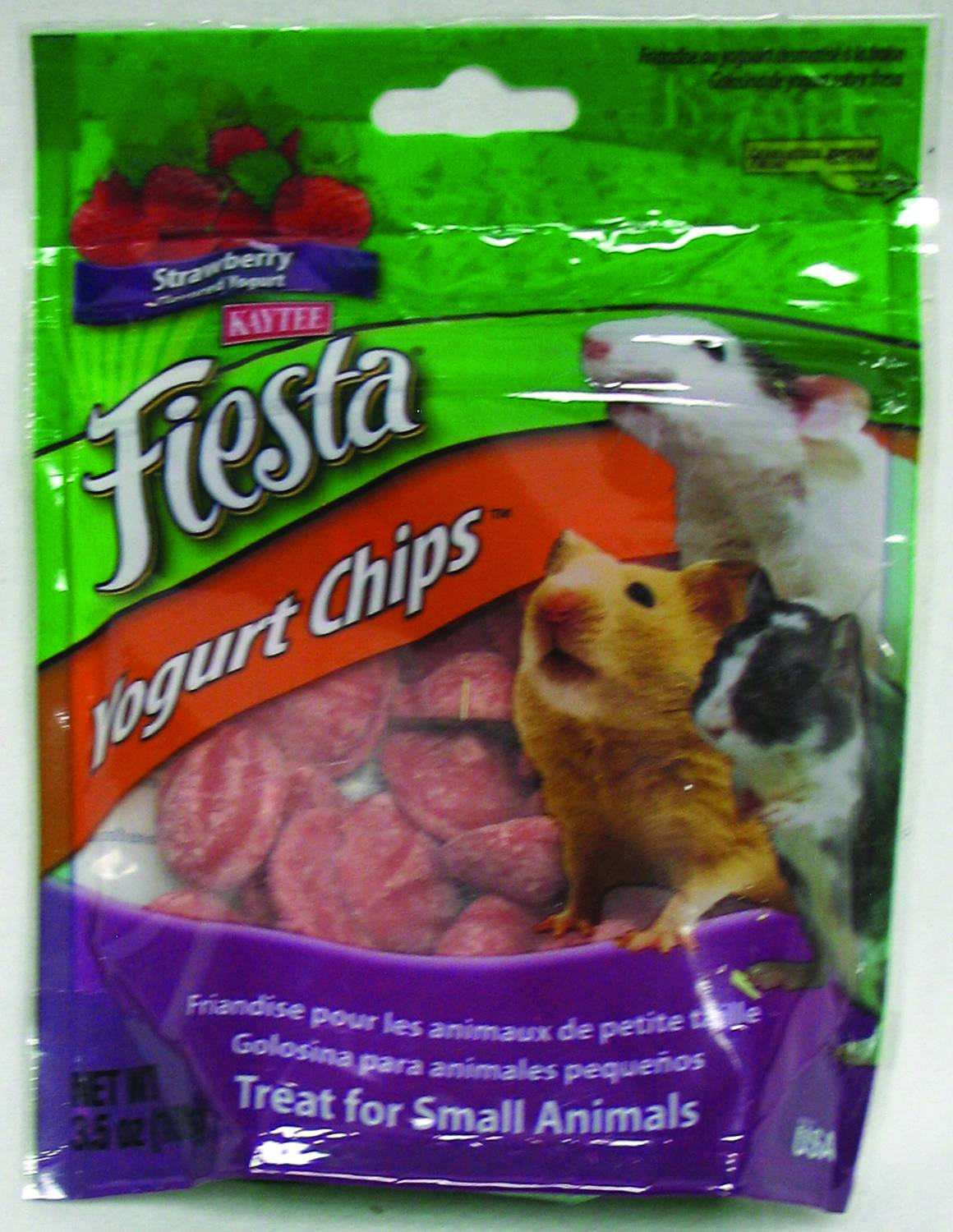 Kaytee Fiesta Yogurt Chips Small Animal 3.5 Oz. Strawberry 71859942155 |  eBay