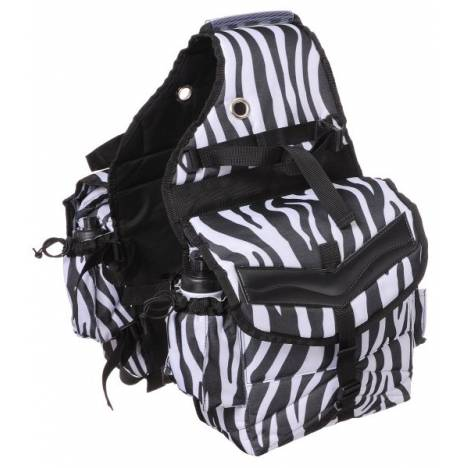 Tough-1 Print Multi-Pocket Insulated Nylon Saddle Bag