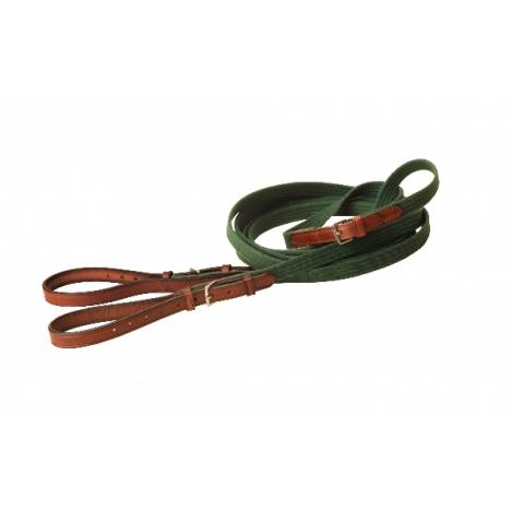 "TORY LEATHER 3/4"" Cotton Web & Leather Draw Reins"