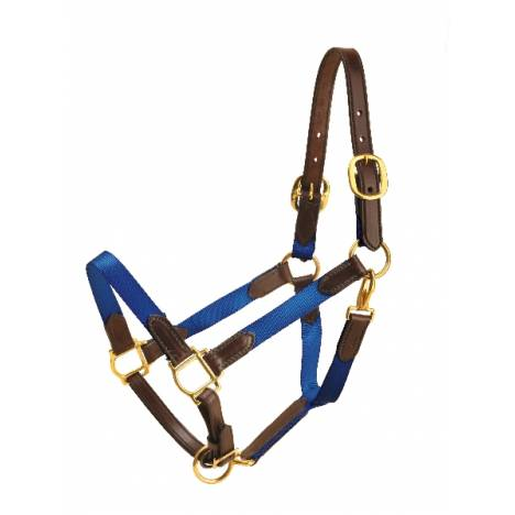 "TORY LEATHER 1"" Nylon Halter - Leather Tabs"