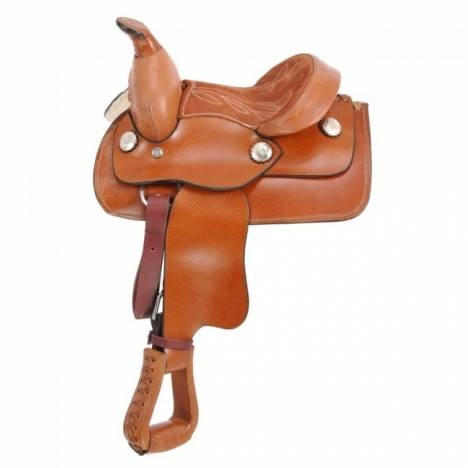 King Series Miniature Western Saddle - Smooth
