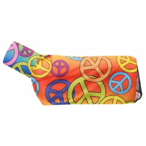 Tough-1 600 Denier Waterproof Poly Sheep Blanket with Mesh - Peace Sign Prints