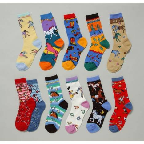 Gift Corral Gift Corral Adult Western Socks - Round 'Em Up