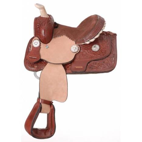 King Series Miniature Fully Carved Barrel Saddle Package