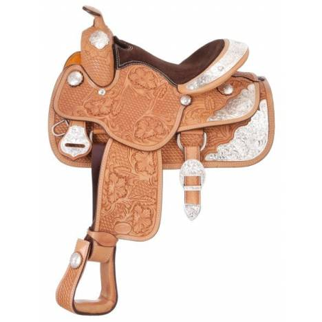 Silver Royal Challenger Youth Silver Show Saddle - Berry Trim