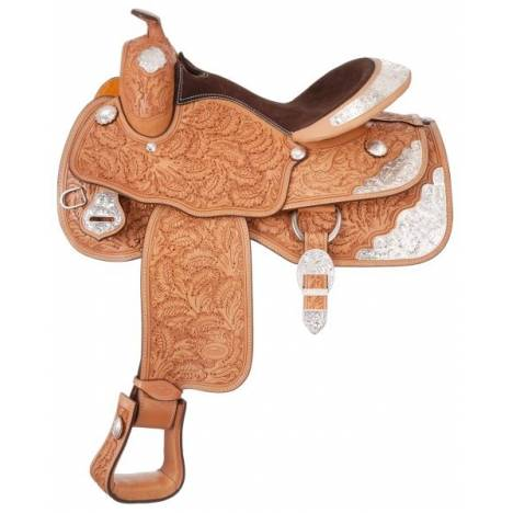 Silver Royal Premium Royal Oak Silver Show Saddle - Silver Star Trim