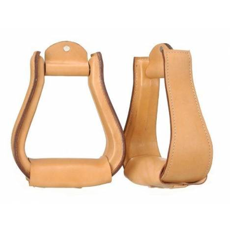 Tough-1 Leather Covered Stirrups