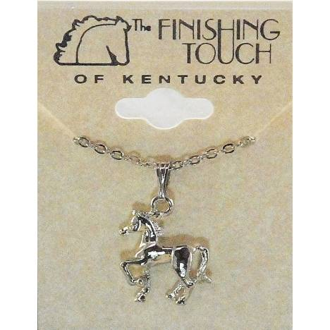 Finishing Touch Prancing Horse Necklace