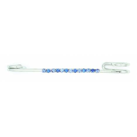 Finishing Touch 2-Tone Rhinestone Strip Stock Pin - Blue