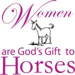 Sound Equine Ladies Tee Shirt Gods Gift To Horses