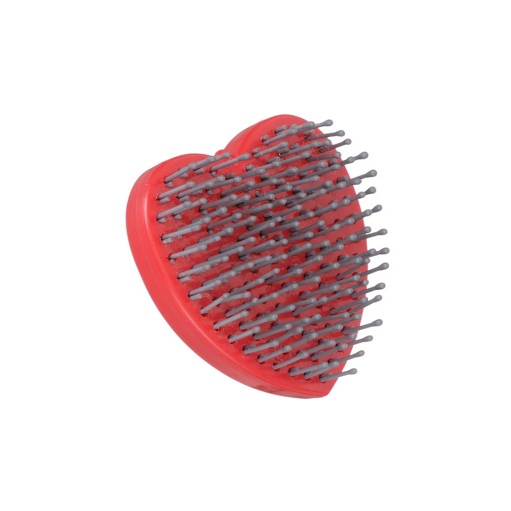 Tough-1 Mane & Tail Brush in Heart Design with Inlaid Crystals