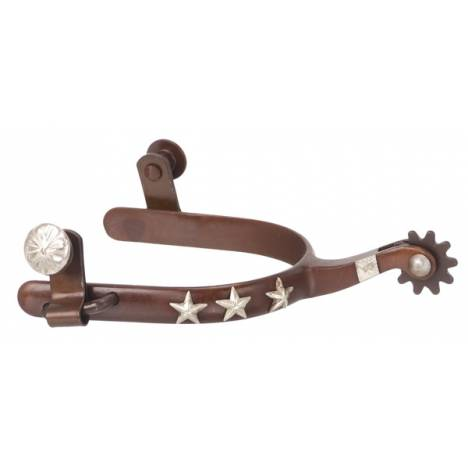 Tough-1 Antique Brown Silver Star Spur