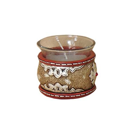 Gift Corral Leather Look Votive