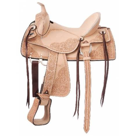 King Series Roma Old Time Hardseat Roughout Saddle Package
