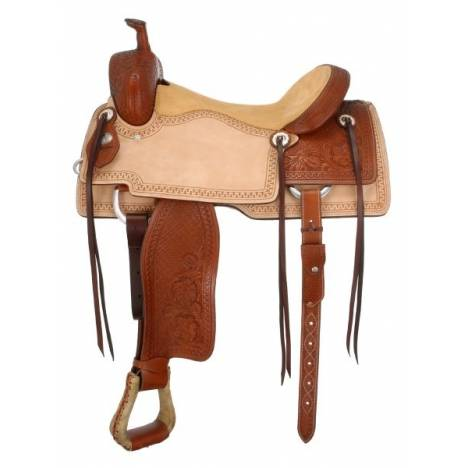 Silver Royal Coyote Cutter Saddle Package