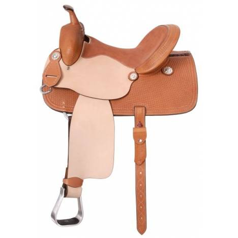 Silver Royal Lone Star Barrel Saddle