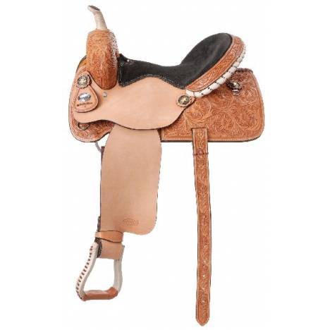 Silver Royal Angus Barrel Saddle