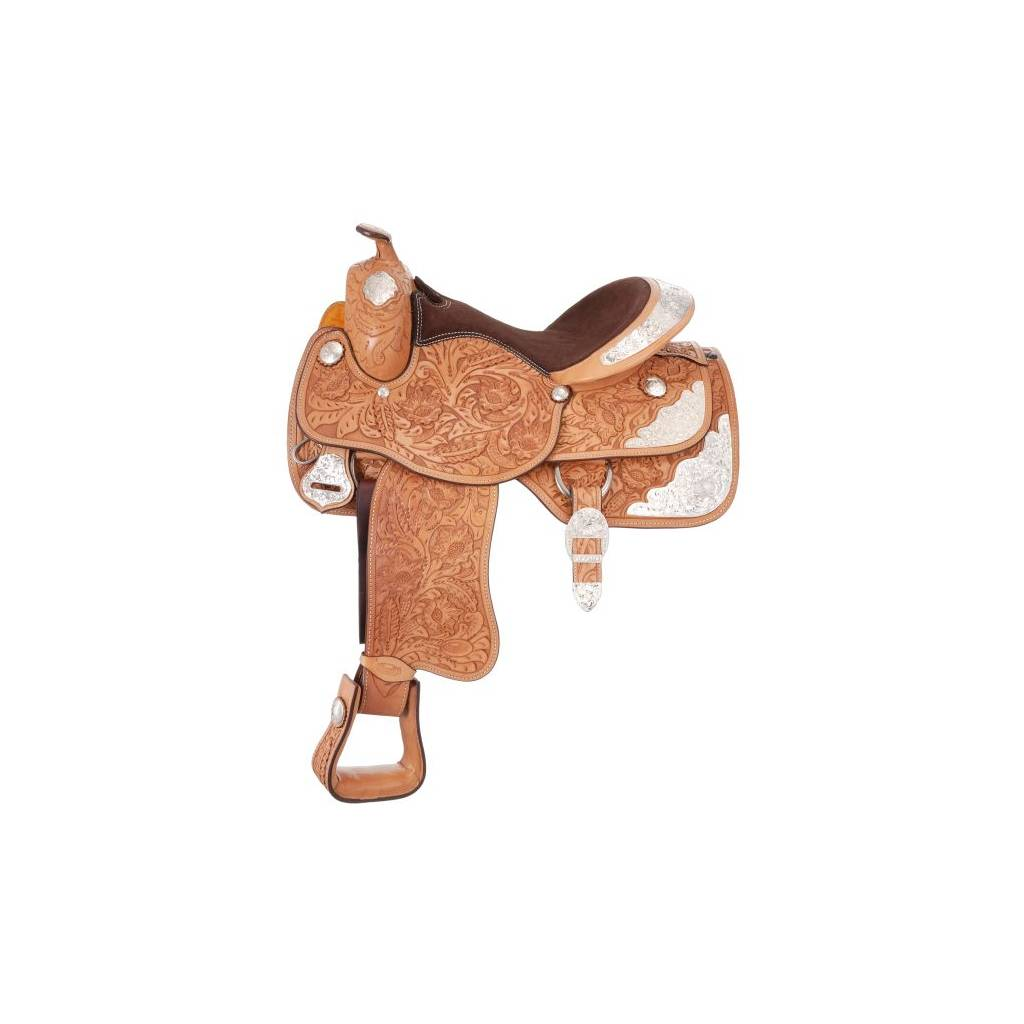 Silver Royal Grand Majestic Youth Silver Show Saddle - Silver Star Trim