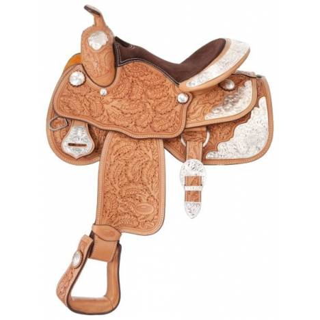 Silver Royal Royal Oak Youth Silver Show Saddle - Silver Star Trim