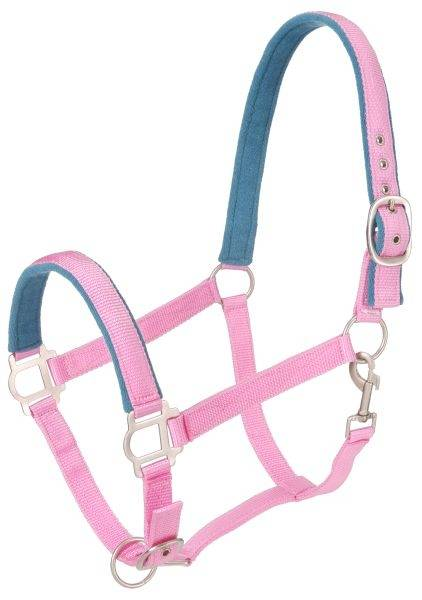 Tough-1 Nylon Halter With Satin Hardware Full Size Pink