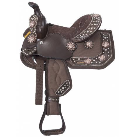 Eclipse By Tough-1 Starlight Copper Pro Trail Miniature Saddle - 5 Piece