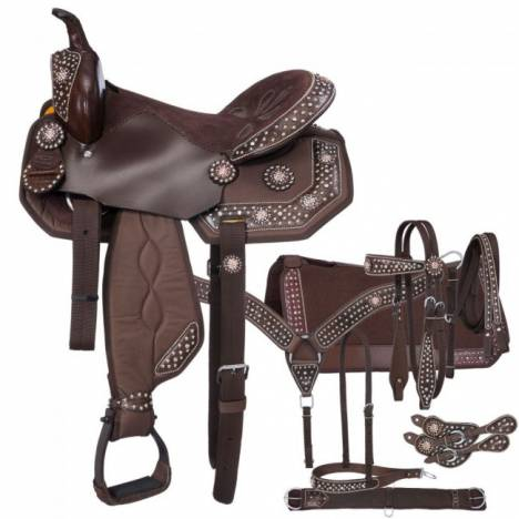 Eclipse By Tough-1 Starlight Copper Pro Trail Saddle - 7 Piece