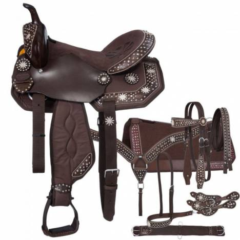 Eclipse By Tough-1 Starlight Spur Rowel Pro Trail Saddle - 7 Piece