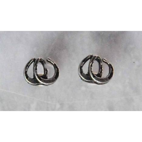 Finishing Touch Double Horseshoe Earrings