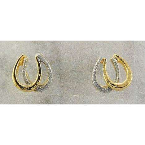 Finishing Touch Double Horseshoe Glitter Earrings