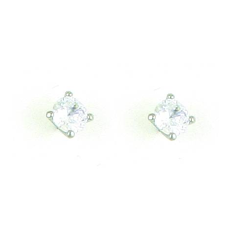 Finishing Touch 6.5 mm CZ Stud Earrings - Crystal