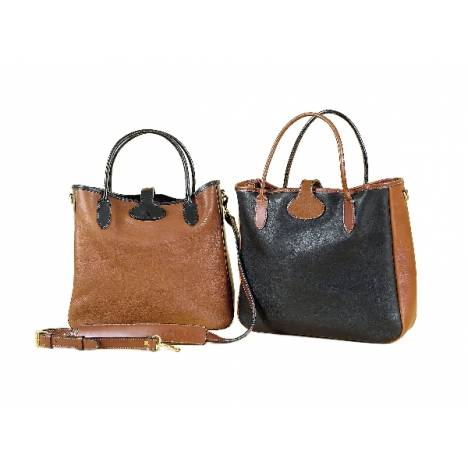 Tory Leather Contrast Leather Tote Bag