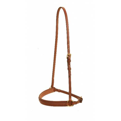 "TORY LEATHER 1"" Creased Caveson - Overlay Noseband & Brass Hardware"
