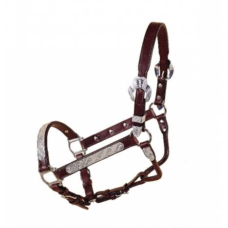 Tory Leather Fila Silver Show Halter With Lead