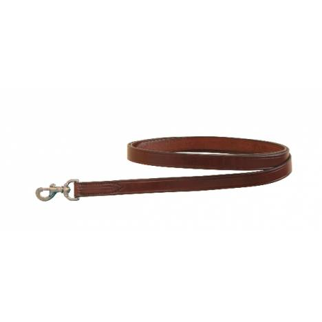 Tory Leather Single Ply Lead With Nickel Snap