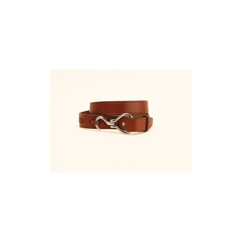 """TORY LEATHER 1 1/4"""" Belt with Hoof Pick Buckle"""