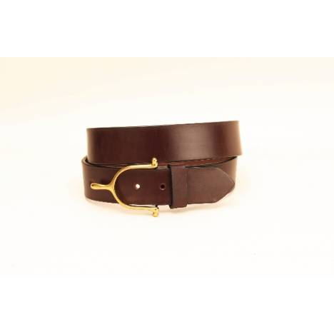 "TORY LEATHER 1 1/2"" Belt with Spur Buckle"