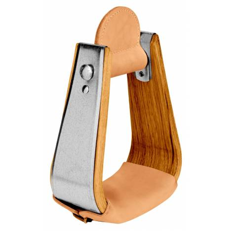 Weaver Leather Wooden Deep Roper Stirrup With Leather Treads