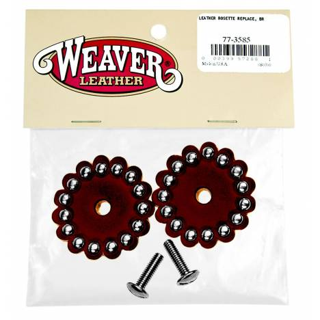 Weaver Leather Leather Rosette Replace, Br