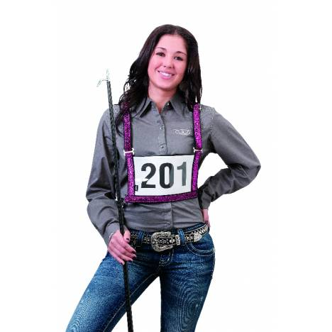 Weaver Leather Exhibitor Number Harness with Sparkle Overlay